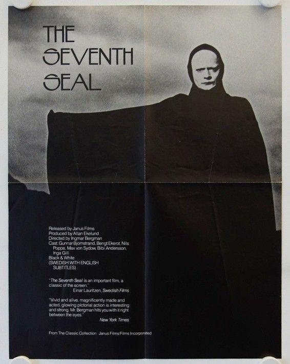 Det sjunde inseglet - The Seventh Seal original US college movie poster - Galerie filmposter.net