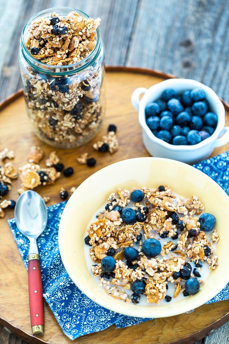 lemon blueberry granola | vegan