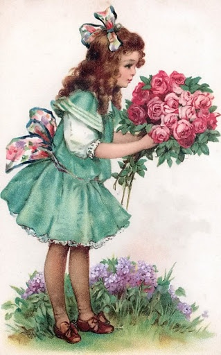 Rose bouquet girl@@@@.....@@@@@.....http://www.pinterest.com/pin/396879785884107906/