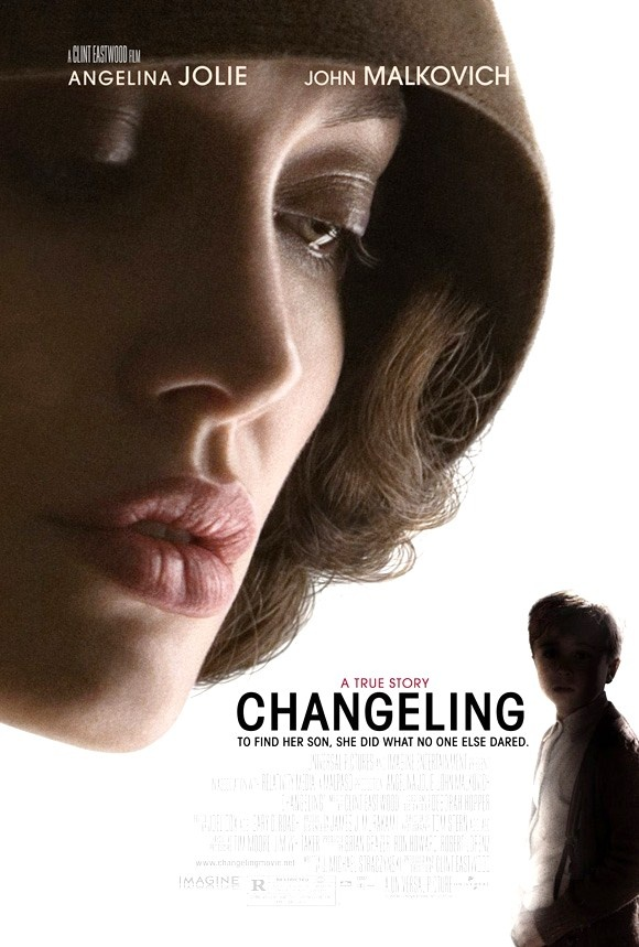 CHANGELING (2008): A grief-stricken mother takes on the LAPD to her own detriment when it stubbornly tries to pass off an obvious impostor as her missing child, while also refusing to give up hope that she will find him one day.
