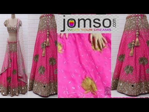 1c9f5c64c7 Jomso Mirror work Lehenga Unboxing, Review and try on |online shopping  review | -