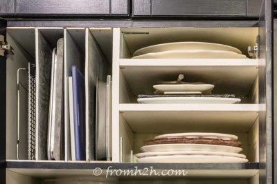 organizing a small kitchen 13 best platter storage solutions images on 3788