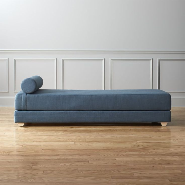 Shop lubi turquoise sleeper daybed.   Analyst-style lounge by day, dreamy guest bed by night.  Easily adapts to host one or two overnighters: Stacked double mattress sleeps twin.  Or, remove the top to side-by-side on the floor for an oversized queen.