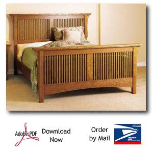 Mission style headboard plans free woodworking projects for Mission bed plans