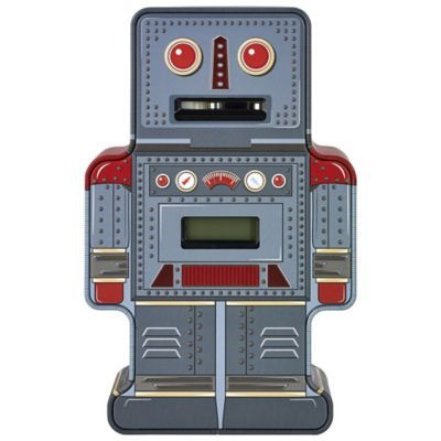 Tin Robot Counting Money Box