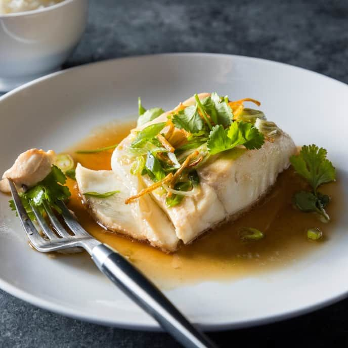 Oven Steamed Fish With Scallions And Ginger For Two Cook S
