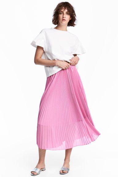 Falda plisada - Rosa - MUJER | H&M ES 1