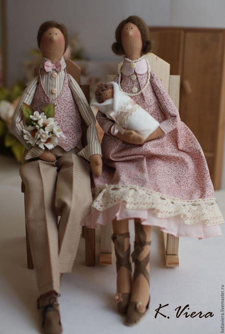 Купить Тильда семья портретная кукла - тильда, кукла ручной работы, кукла Тильда ♡