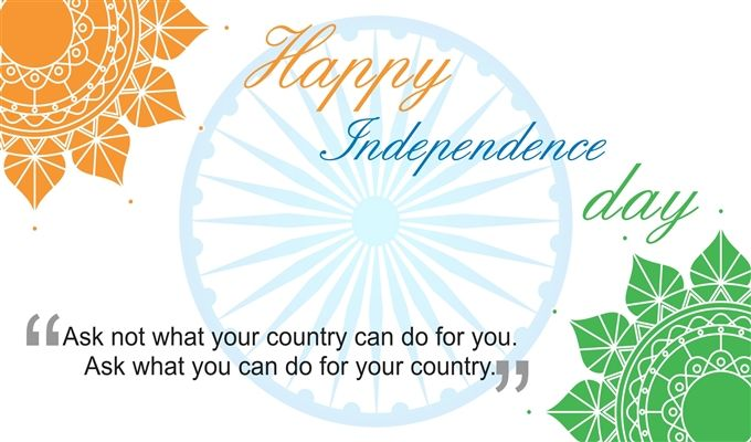 Happy Independence Day Wish Quote Wallpaper
