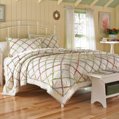 Laura Ashley Home Ruffled Garden Cotton Quilt