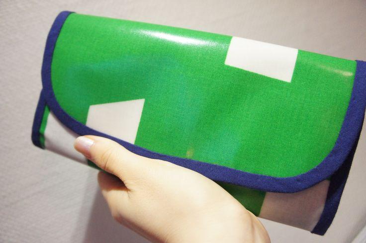 ordermade wallet green #handmade #wallet #ordermade #sewing #10gruppen