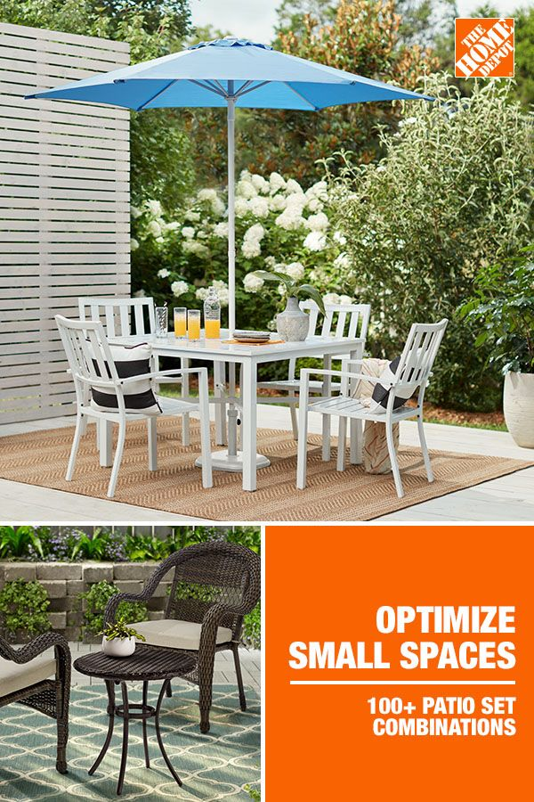 Optimize Small Spaces Patio Outdoor Furniture Decor White