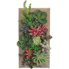 Succulent Garden Wall Tile