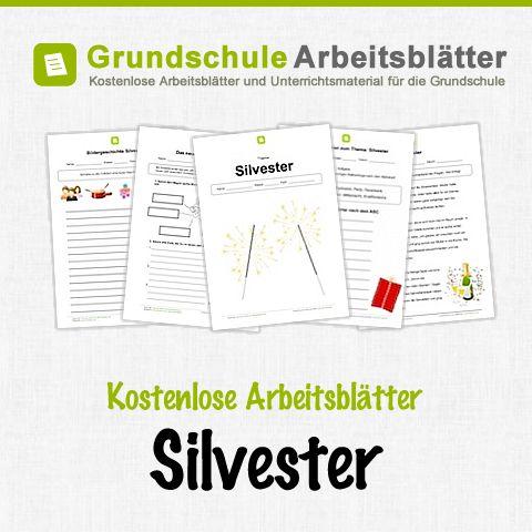 Kostenlose Arbeitsblätter und Unterrichtsmaterial zum Thema Silvester in der Grundschule.