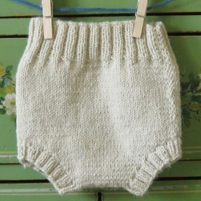 Cream Alpaca Wool Soaker baby knits Pinterest