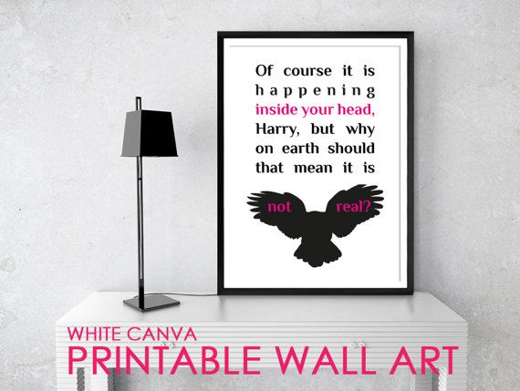 INSIDE YOUR HEAD2 Harry Potter Quote Posters by WhiteCanva on Etsy