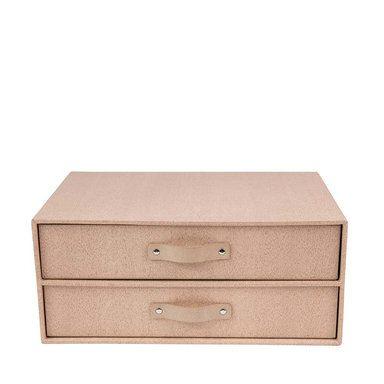 Byrå med två lådor Birger, Pale Oak