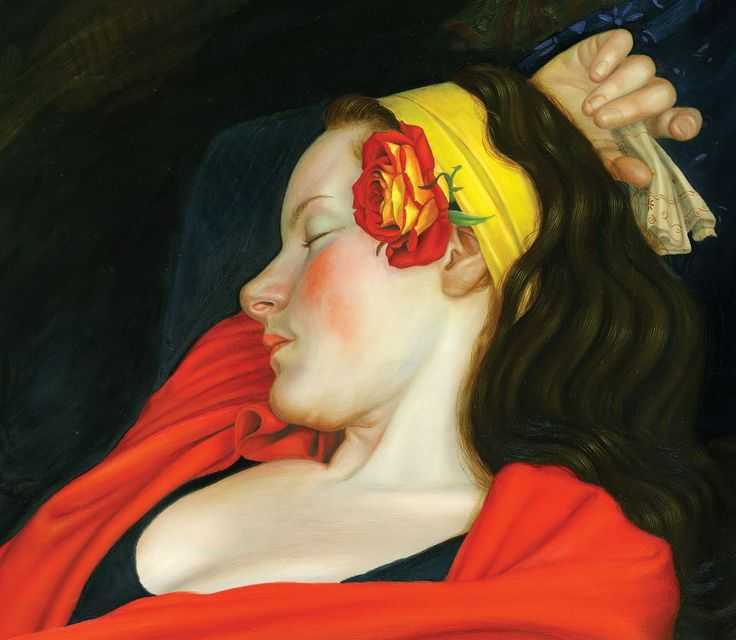 oil painting ,sleeping beauty