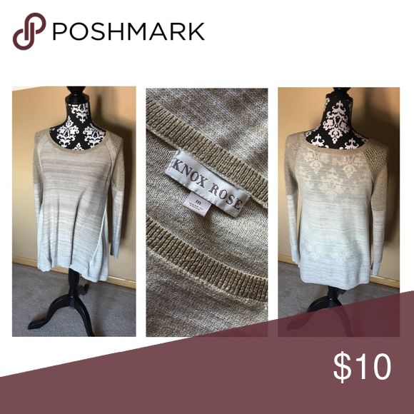 Knox Rose Gold Sweater Golden heathered sweater. Cut outs in shoulders, minor snag in neckline pictured, easy fix just don't have the time! Sweaters Crew & Scoop Necks
