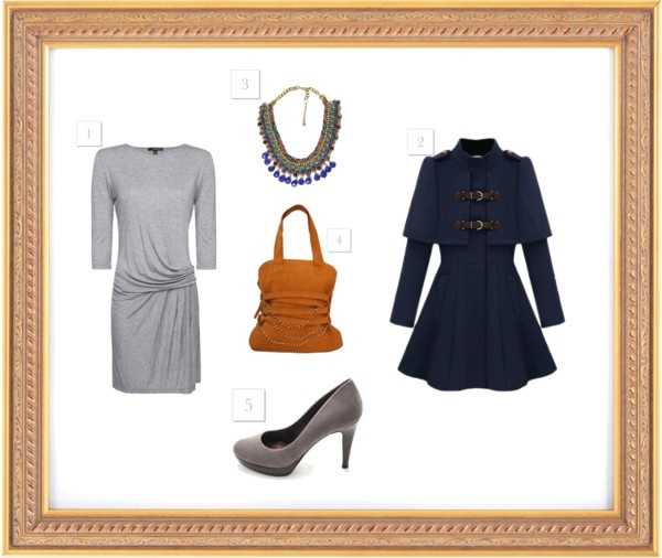 """Blue and gray"" by smilinglook on Polyvore"