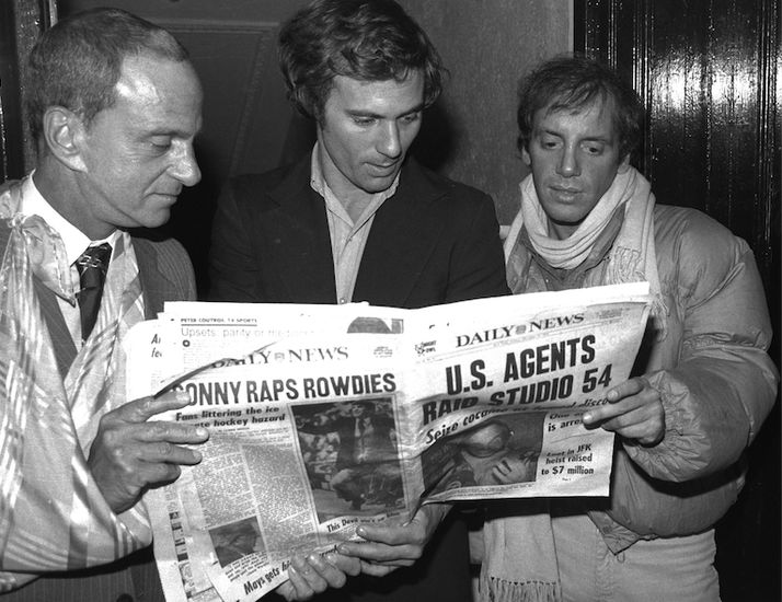 """""""Only the Mafia made more money,"""" said Steve Rubell (seen here with Ian Schrager and attorney Roy Cohn) in 1979. Rubell should have done like the mob and kept his mouth shut. The IRS took notice, Studio 54 was raided, ..."""