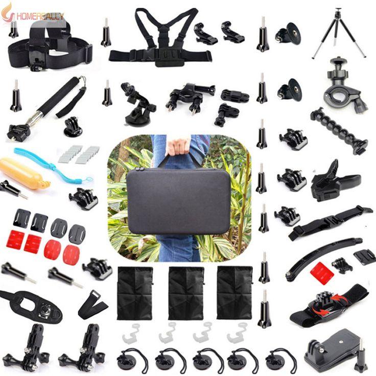 >> Click to Buy << Gopro Accessories Set Helmet Harness Chest Belt Head Mount Strap Monopod Go pro Hero 5/3+/3 4 session SJCAM SJ4000 SOOCOO Camera #Affiliate