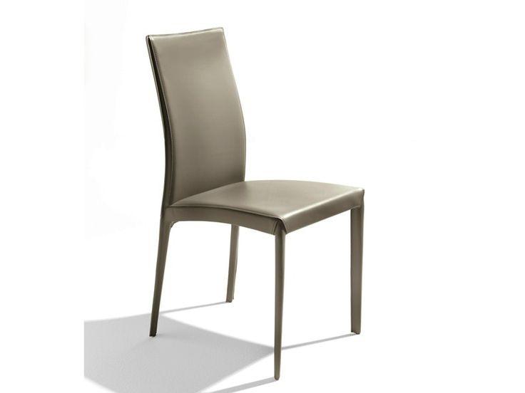 Gepolsterter stuhl aus gegerbtem leder kefir kollektion for Stuhl piano design
