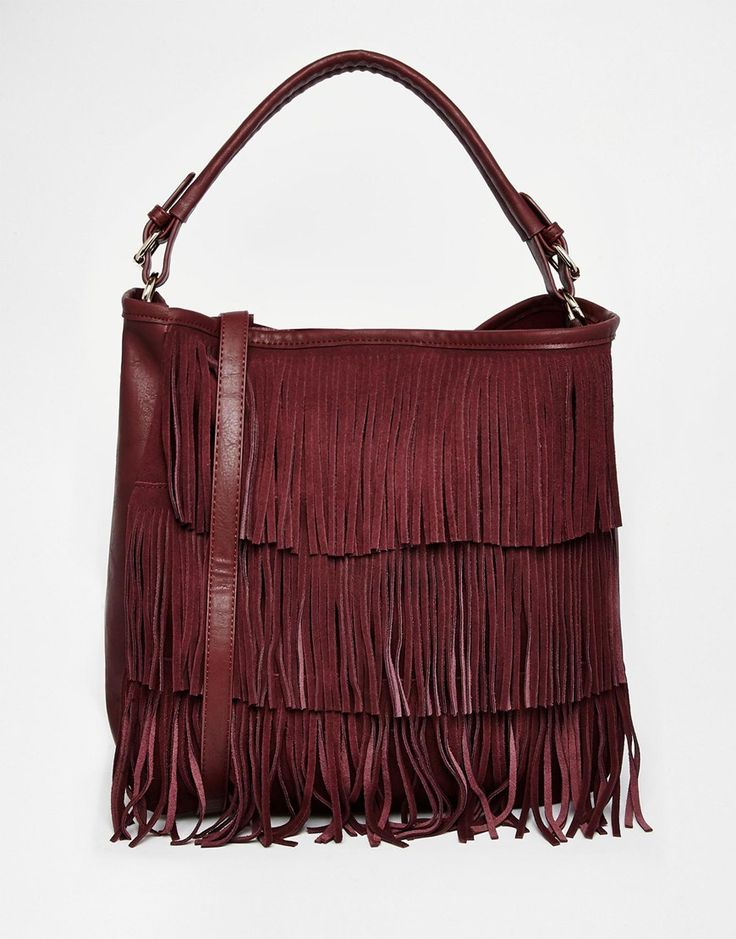 Oasis Fringed Hobo Bag