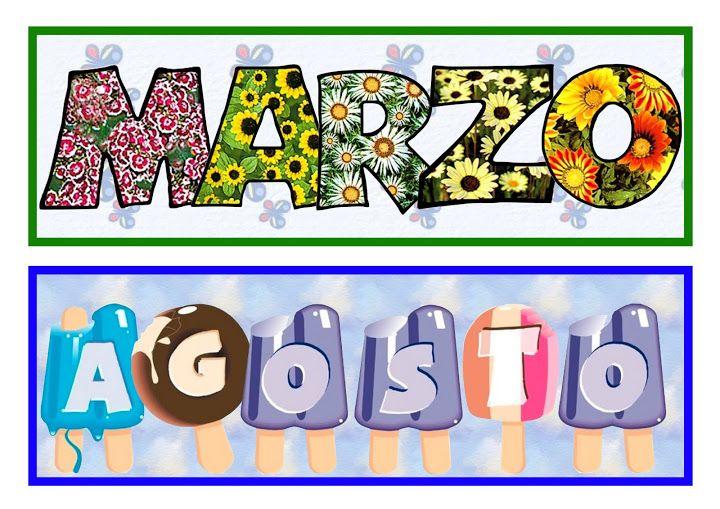Maestra de Infantil: Carteles para los meses del año | CARTELES ...
