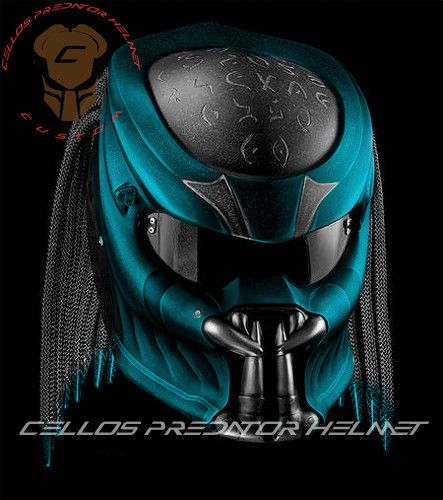 ALIEN PREDATOR HELMET MOTORCYCLE DOT APPROVED | benmustafaz_80Shop -  on ArtFire