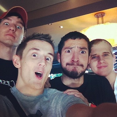 All my favorite YouTubers in 1 photo. Kootra, Syndicate, Nova, and Seamus