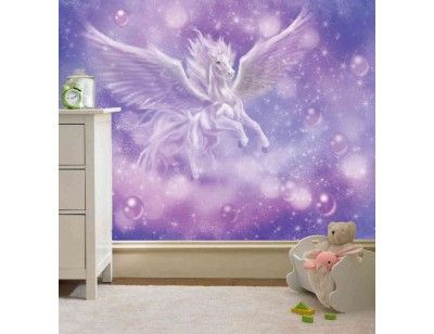 """Pegasus"". A wallpaper mural from Muralunique.com. This is an original artwork from Birgit Schulz. https://www.muralunique.com/pegasus-105-x-8-320m-x-244m.html"