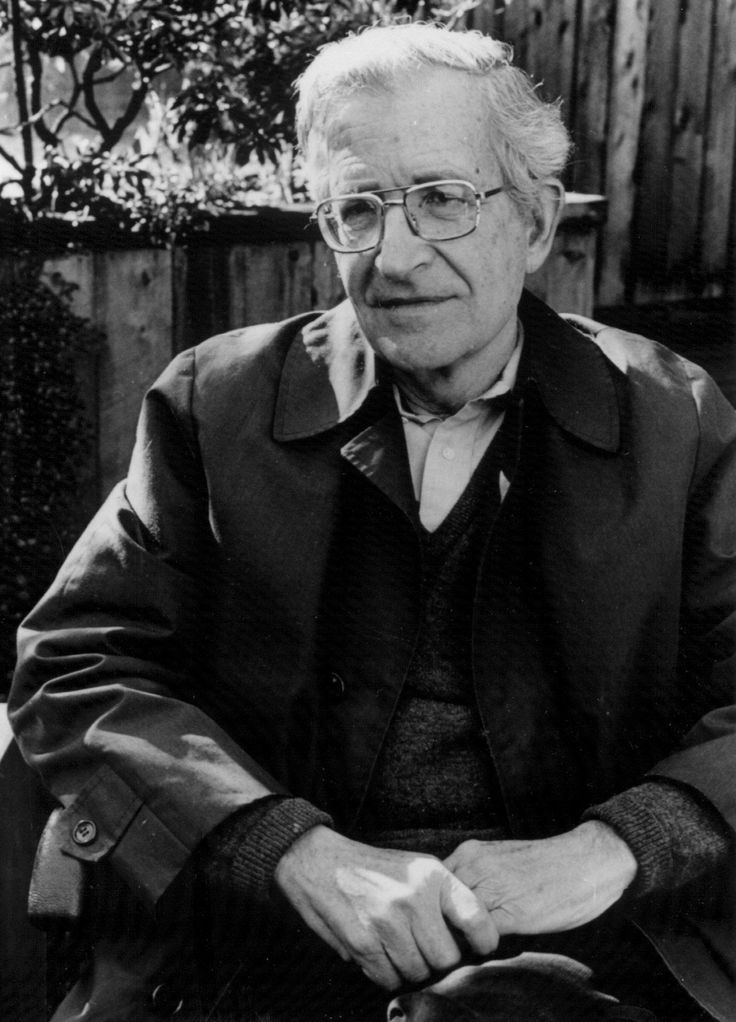 (Avram) Noam Chomsky  December 7, 1928; American linguist, philosopher, cognitive scientist, logician, historian, political critic, and activist.