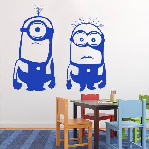 Despicable Me Minions - Childs Bedroom Nursery Wall Sticker (Color:Black Size:) @ niftywarehouse.com #NiftyWarehouse #DespicableMe #Movie #Minions #Movies #Minion #Animated #Kids