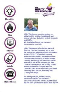 www.wow-a2z.com member 'Mike'. Utility Warehouse provides savings on utility (mobile, landline, broadband) and energy bills (gas & electric) for both domestic and SMEs.