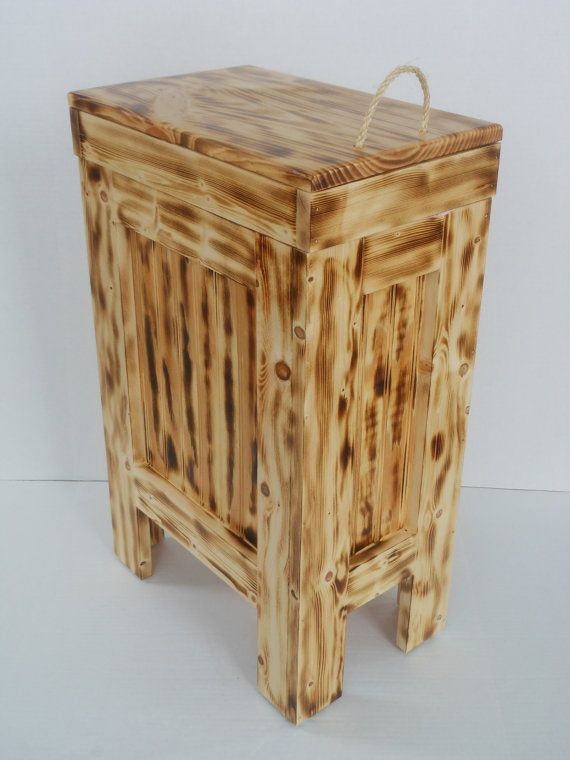 Wood Trash Bin, Kitchen Garbage Can, Wood Trash Can ...
