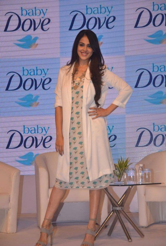 Genelia D'Souza at Baby Dove Soap Launch