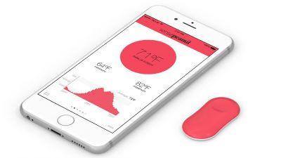 あちこちにペタッと貼り付けるだけでスマホ対応温度センサーになる「ThermoPeanut」 - GIGAZINE