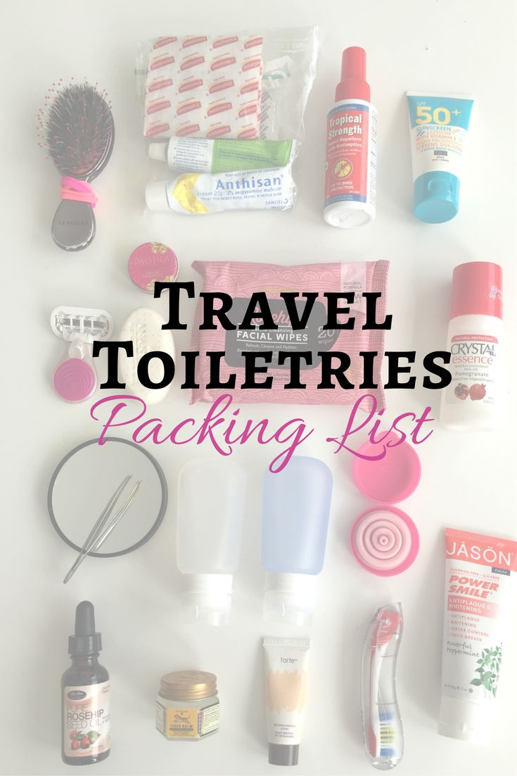 The Complete Travel Toiletries List – Pack Right Every Time! You can download my printable packing checklist for your travel toiletries here.