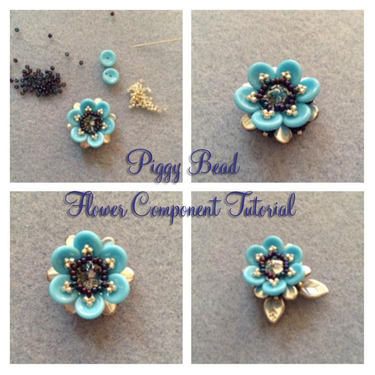 This tutorial will show you how to make a flower component from piggy beads. The component can be used to make earrings, a ring, a brooch, a pendant or used ...