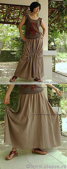 Тайская юбка в стиле «бохо». Мастер-класс