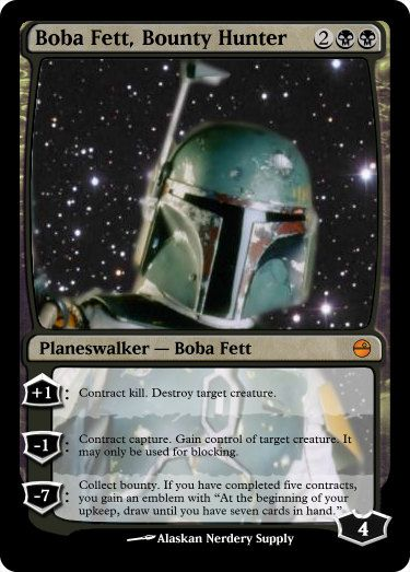 Magic The Gathering Custom Foil Card Boba Fett Bounty