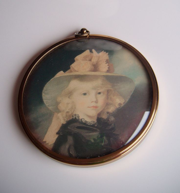 Princess Sophia by John Hoppner, The Miniature World of Peter Bates by DenaByRiches on Etsy