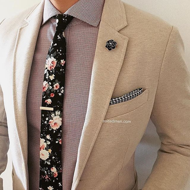 Loving the accessories and stylings from @Suited_Man including their wide selection of floral ties and lapel pins. Get them now at www.suitedman.com | Follow @suited_man #suitup @suitedmanstyle