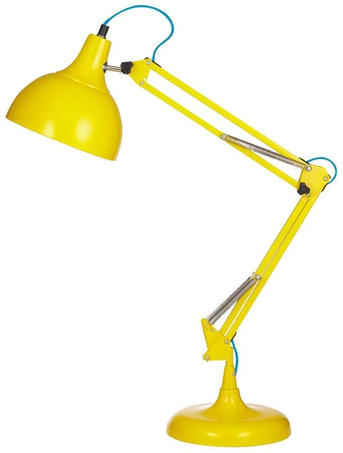 acid yellow desk lamp by the forest & co | notonthehighstreet.com