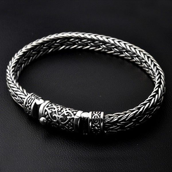 Men S Sterling Silver Ivy Buckle Braided Bracelet In 2020 Mens Gold Bracelets Bracelets For Men Mens Silver Jewelry