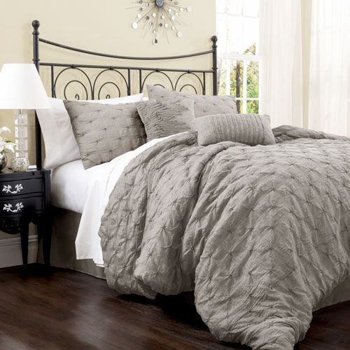 Lake Como Gray King Size Comforter Sets