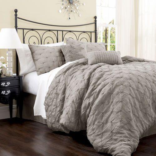 Lake Como Gray King Size Comforter Sets