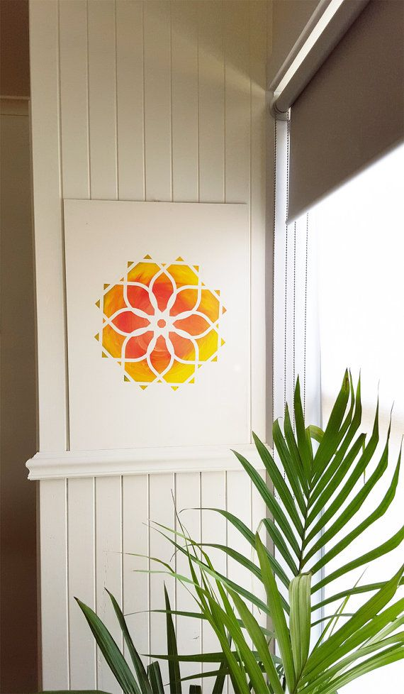 Our templates are not just for direct to wall colouring - explore your painting skills, using materials found in the hardware and make a