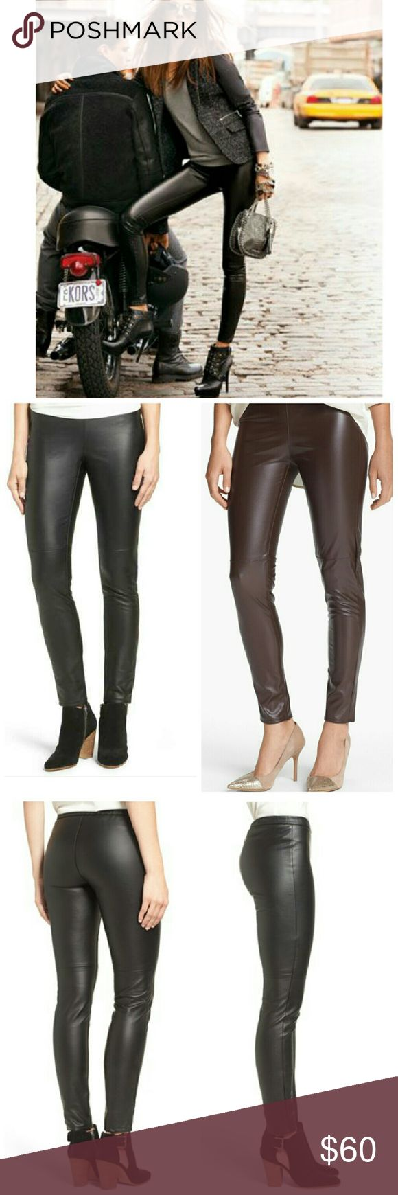 Michael Kors faux leather leggings Beautiful high quality side zipper leggings. Very flattering fit and so versatile. Throw them on with boots and a sweater for cool casual or with a slinky top and heels for a night out. Michael Kors Pants Leggings